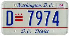 2000 base Dealer plate no. D-7974