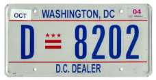 2000 base Dealer plate no. D-8202