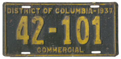1937 Commercial (Truck) plate no. 42-101