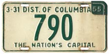 1953 Reserved Passenger plate no. 790 revalidated for 1954