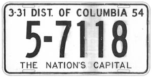 This is thought to be the final sketch of the 1953 plate presented to the commissioners at their May 1, 1952 meeting.