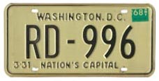 1966 Rental plate validated for 1967 (exp. 3-31-68)