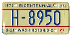 1974 base Hire plate no. H-8950