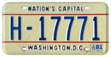 1978 base hire plate no. H-17771