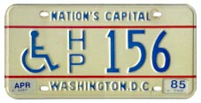 1978 base handicapped person plate no. H/P 156