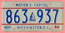 1978 plate no. 863-937 with separate month and year (84) stickers
