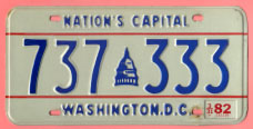 1978 plate no. 737-333 with 3-31-82 sticker.