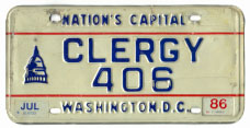 1978 base clergy plate no. 406