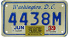 1984 base motorcycle plate no. 4438M validated for 1988 (exp. June 1989), with inspection sticker