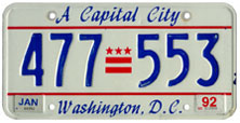 1991 general-issue passenger car plate no. 477-553