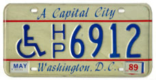 1984 base Handicapped Person plate no. H/P 6912