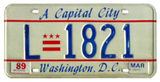 1984 Livery plate no. L-1821