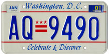2000 general-issue passenger car plate no. AQ-9490
