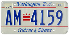 1991 Passenger plate no. AM-4159 validated for 1999-2000 (exp. June 2000)