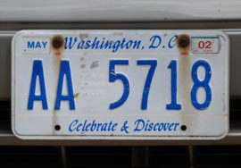 An early two-letter-prefix 1991 baseplate, no. AA-1226, with faded red graphics