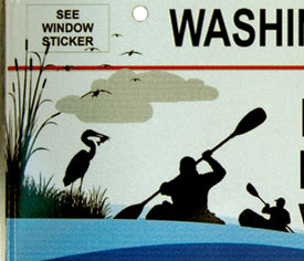 Detail of graphic on Anacostia River Commemorative plate no. 2001