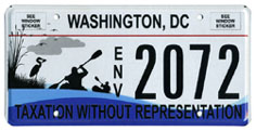 Anacostia River Commemorative License Plate no. ENV 2072