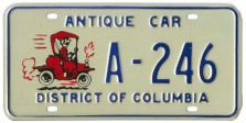 late style Antique Car plate no. A-246