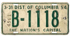 "1953 (exp. 3-31-54) Bus plate no. B-1118, marked ""Return to Greyhound Lines, Cleve."" on back. Number 4531 stamped on the front is assumed to be a Greyhound bus identifier."
