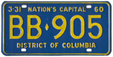 1959 Bus plate no. BB-905