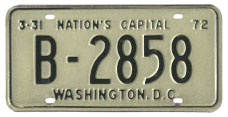 1971 (exp. 3-31-72) Bus plate no. B-2858