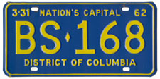 1961 Sightseeing Bus plate no. BS-168