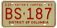 1964 Sightseeing Bus plate no. BS-187