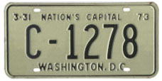 1972 (exp. 3-31-73) Commercial (Trck) plate no. C-1278