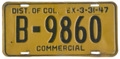 1946 Commercial plate no. B-9860
