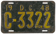 1948 Commercial (Truck) plate no. C-3322