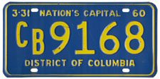 1959 Commercial (Truck) plate no. CB-9168