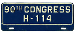 90th Congress (House of Rep.) permit no. H-114