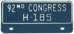 92nd Congress (House of Rep.) permit no. H-185