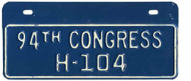 94th Congress (House of Rep.) permit no. H-104