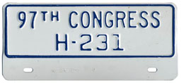 97th Congress (House of Rep.) permit no. S-231