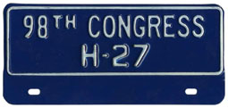 98th Congress (House of Rep.) permit no. H-27