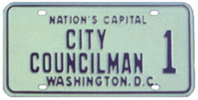 1968 Baseplate marked CITY COUNCILMAN 1