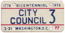 1974 Baseplate marked CITY COUNCIL 3
