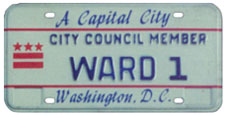 1984 Baseplate marked CITY COUNCIL MEMBER - WARD 1