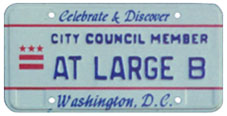 1991 Baseplate marked CITY COUNCIL MEMBER - AT LARGE B