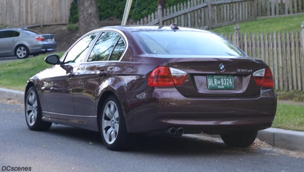 2011 Dealer plate no. 9324 on a BMW 330xi