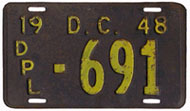 1948 (exp. 3-31-49) Diplomatic plate no. 691