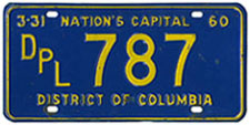 1959 Diplomatic plate no. 787