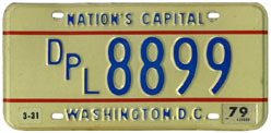 1978 (exp. 3-31-79) Diplomatic plate no. 8899