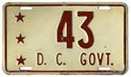 1952 D.C. Government plate no. 43