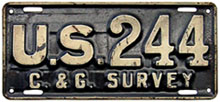 pre-1942 U.S. Coast and Geodetic Survey plate no. 244