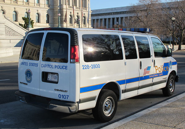 U.S. Capitol Police van parked at the Capitol.