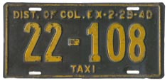 1939 (exp. 2-29-40) Hire plate no. 22-108