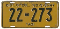 1946 (exp. 3-31-47) Hire plate no. 22-273