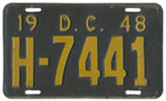 1948 Hire (Taxi) plate no. H-7441